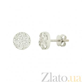 Золотые серьги с бриллиантами Айлин 1С869-0044