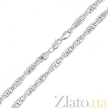 Серебряная родированная цепочка Корда, 2,5мм 000082709