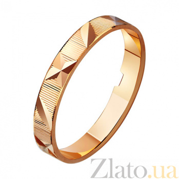 Золотое обручальное кольцо Магия любви TRF--411015