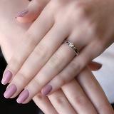Золотое кольцо Иоланта в белом цвете с бриллиантом