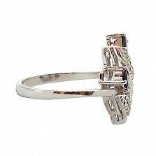 Серебряное кольцо с бриллиантами и сапфирами Хелми