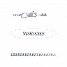 Серебряная цепочка Двойной Ромб