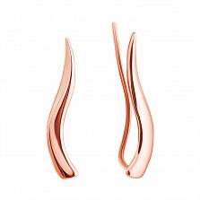 Серьги-каффы из розового золота Лиза
