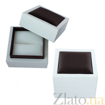 Квадратный футляр под кольцо из эко кожи, 70х70мм 000056809