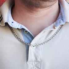 Серебряная цепь Рондо с алмазной гранью, 6мм