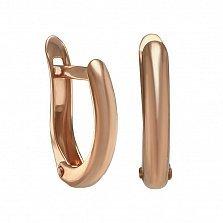 Золотые серьги Милано в минималистичном стиле