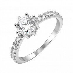 Серебряное кольцо с фианитами 000112668