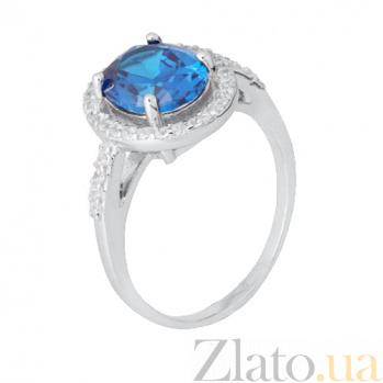 Серебряное кольцо с фианитами Джофранка 000028336