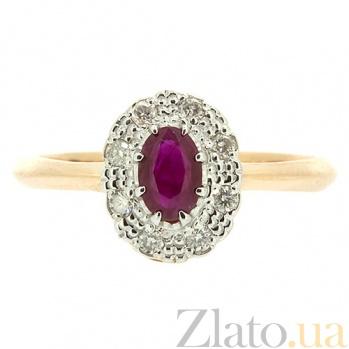 Кольцо из красного золота с рубином и бриллиантами Габриэлла ZMX--RR-5502_K