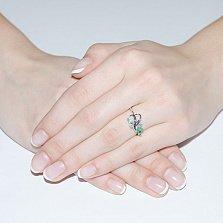 Кольцо из белого золота с изумрудом Иоланда