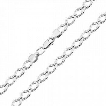 Серебряная цепочка в плетении ромбо 000122399