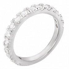 Серебряное кольцо с фианитами Иоланта