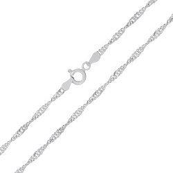 Серебряная цепь Фламенко, 2 мм