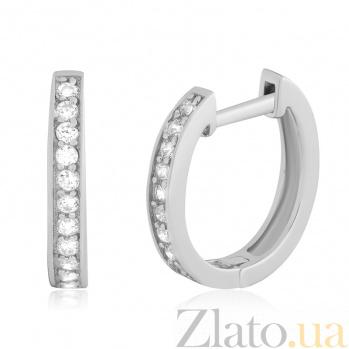 Серебряные серьги с фианитами Лунное сияние 000024919