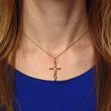 Серебряный крестик Выбор с позолотой и родированием