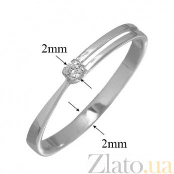 Золотое кольцо с бриллиантом Единство PTL--3к046/21