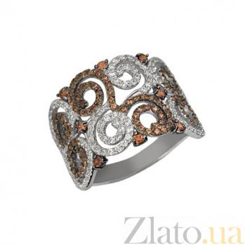 Кольцо из белого золота Фриволите с цирконием VLT--ТТТ1071