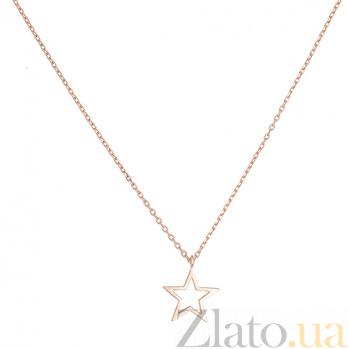 Колье Звезда Альтаир в красном золоте 000045210