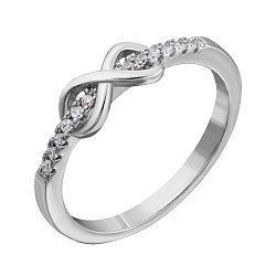 Серебряное кольцо с фианитами 000132553