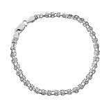 Серебряный браслет Жоржетта с родированием, 20 см
