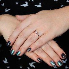 Золотое помолвочное кольцо Эмилия с бриллиантом