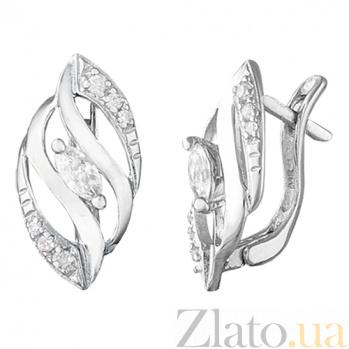 Серьги из серебра с фианитами Соррель SLX--С2Ф/073