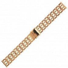 Часовой браслет из красного золота Леннард