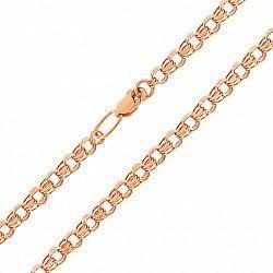 Цепочка из красного золота в плетении бисмарк 000000356