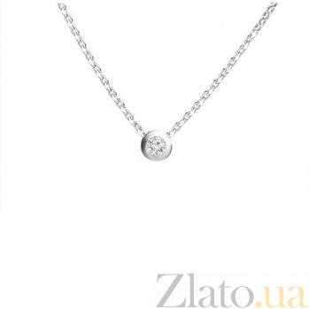 Серебряное колье Аделлина с фианитом 000015125