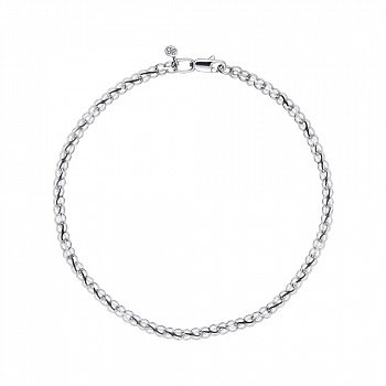 Серебряный браслет в плетении бисмарк ручеек 000118110, 3 мм