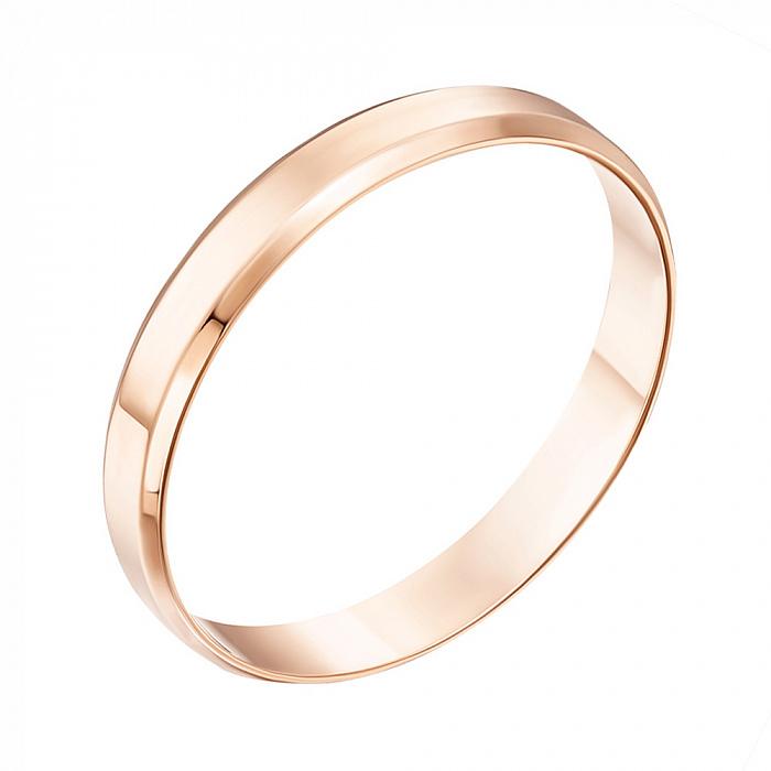 Обручальное кольцо из красного золота 000103671 000103671