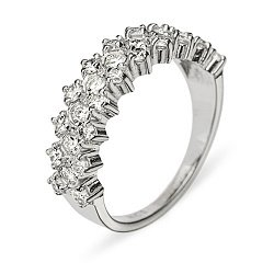 Кольцо из белого золота с бриллиантами 000006022
