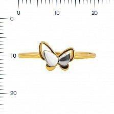 Кольцо из комбинированного золота Лунный мотылек