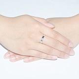 Кольцо из белого золота с бриллиантом Дамара