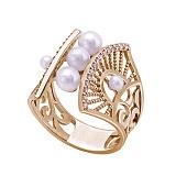 Золотое кольцо с жемчугом Ирида