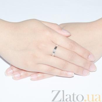Кольцо из белого золота с бриллиантом Дамара R 0471/бел