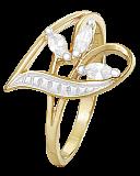 Серебряное кольцо с белыми фианитами Аллегория