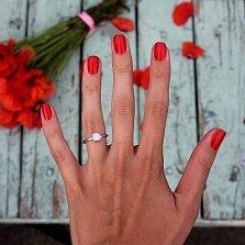 Серебряное кольцо Bezel