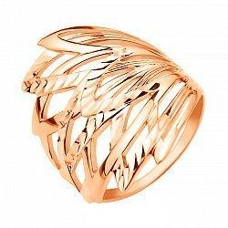 Кольцо из красного золота с алмазной гранью 000104601