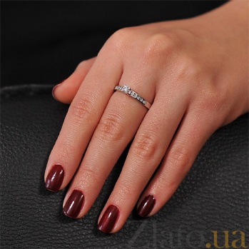 Кольцо из белого золота Миладия с бриллиантами EDM--КД7470/1