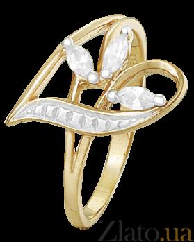 Серебряное кольцо с белыми фианитами Аллегория 000025663