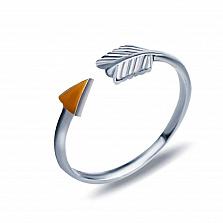 Серебряное кольцо с золотом Стрела