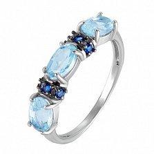 Серебряное кольцо с топазами Наяда