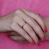 Золотое кольцо Альдея с цирконием