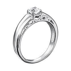 Серебряное кольцо с цирконием Swarovski 000127968