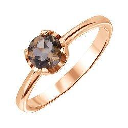Кольцо из красного золота с раухтопазом 000125434