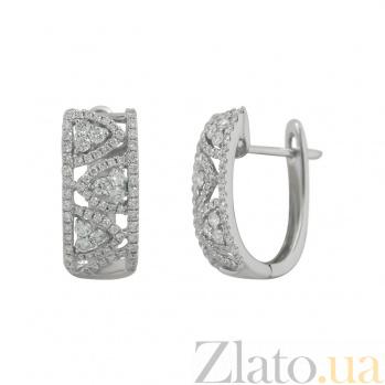 Золотые серьги с бриллиантами Дария 000026625