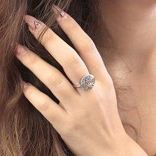 Серебряное родированное кольцо Калиста с буквами в стиле Булгари