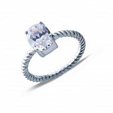 Кольцо на помолвку с фианитом Оригинальность