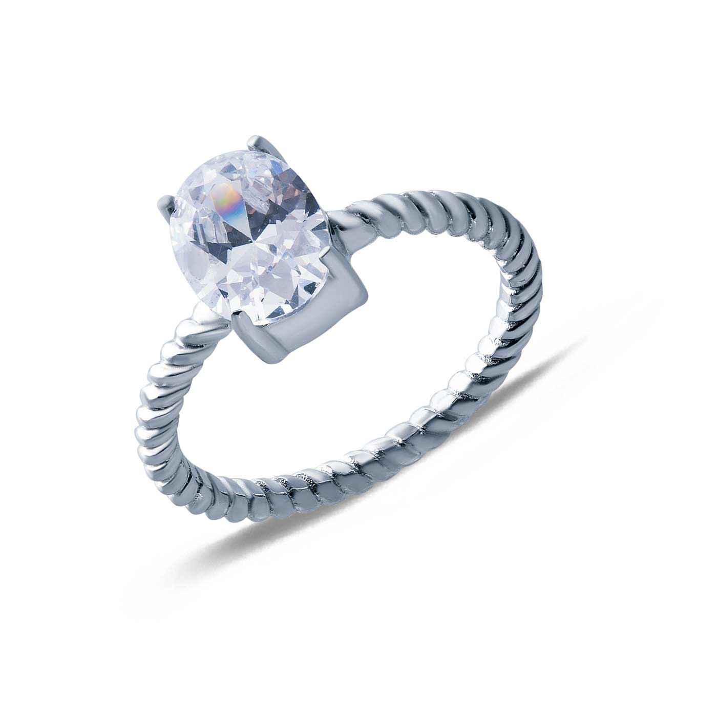 Кольцо на помолвку с фианитом Оригинальность AQA--SK-FC014-R_akv